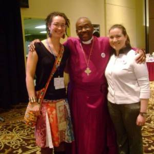 Charis, Bishop Curry, and Casey Ludlum at the 195th Convention of the Diocese of North Carolina, 2011