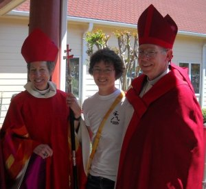 The Most Rev. Dr. Katharine Jefferts Schori, 26th Presiding Bishop, with Charis and Rt. Rev. Clifton Daniel, III, formerly Bishop of Eastern North Carolina, currently Provisional Bishop of Pennsylvania