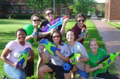 Water gun fight at Meredith College
