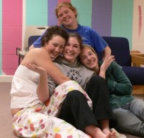The four musketeers: Meredith, Charis, Crystal, Rachael