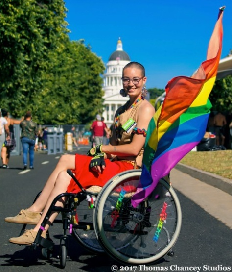 Pride picture wheelchair